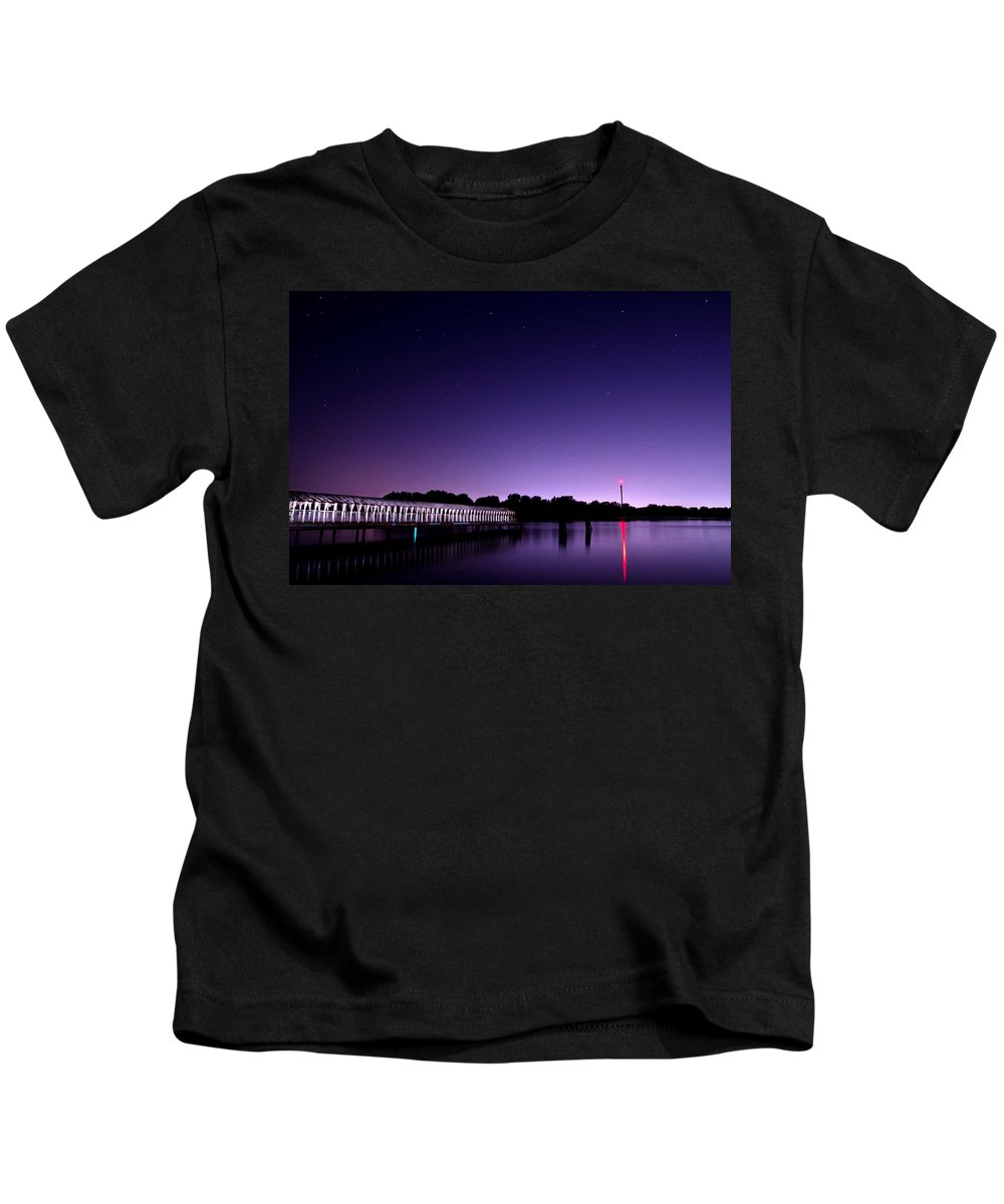 Night Kids T-Shirt featuring the photograph Boblo Dock by Cale Best