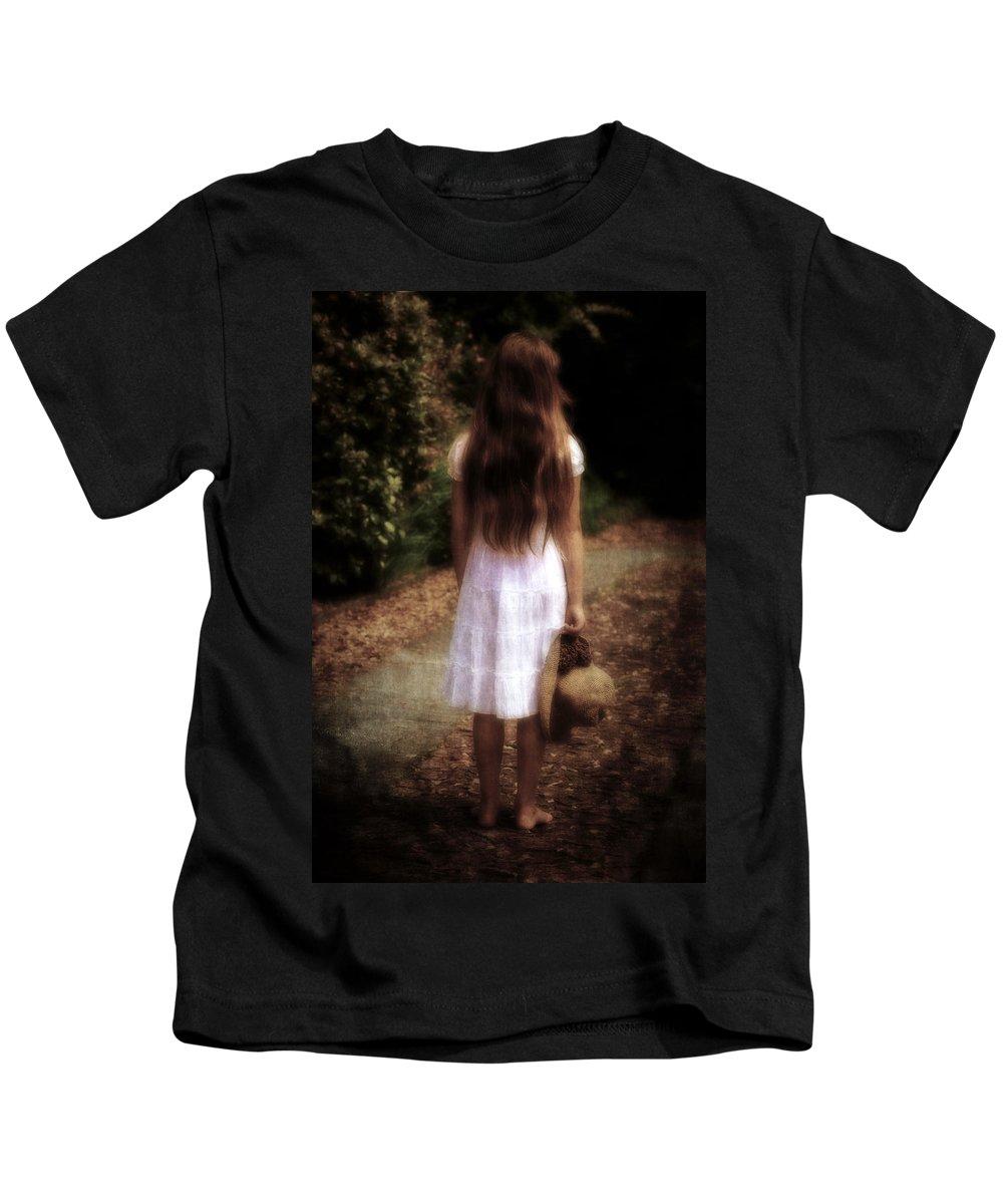 Girl Kids T-Shirt featuring the photograph Farewell by Joana Kruse
