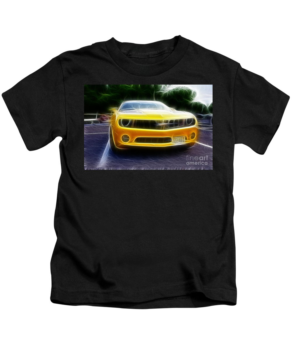 Performance Car Kids T-Shirt featuring the photograph 2012 Chevrolet Camaro Rs by Paul Ward