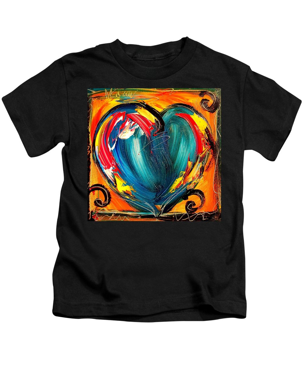 Music Jazz Piano Red Landscape Framed Prints Kids T-Shirt featuring the mixed media Heart by Mark Kazav