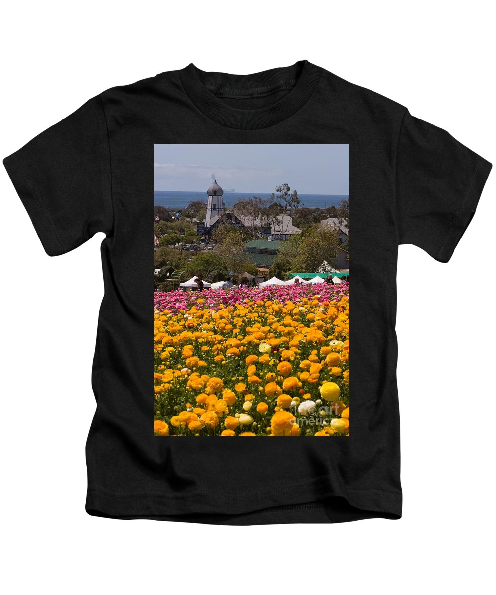 Flowers Kids T-Shirt featuring the photograph Flower Fields by Daniel Knighton