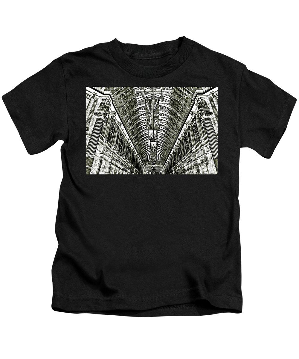 Leadenhall Market Kids T-Shirt featuring the digital art Leadenhall Market London by David Pyatt