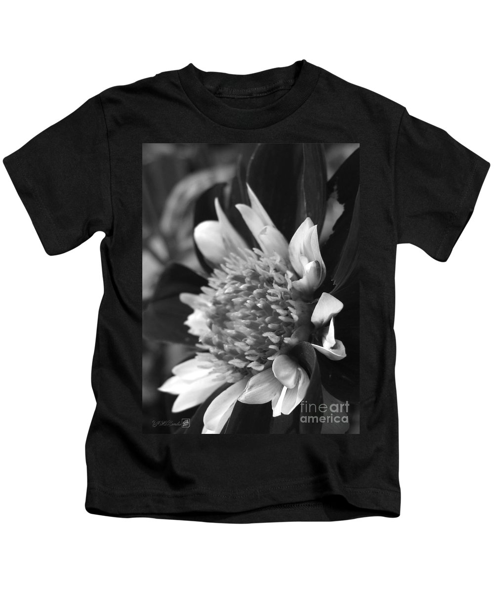 Dahlia Kids T-Shirt featuring the photograph Dahlia Named Mary Eveline by J McCombie
