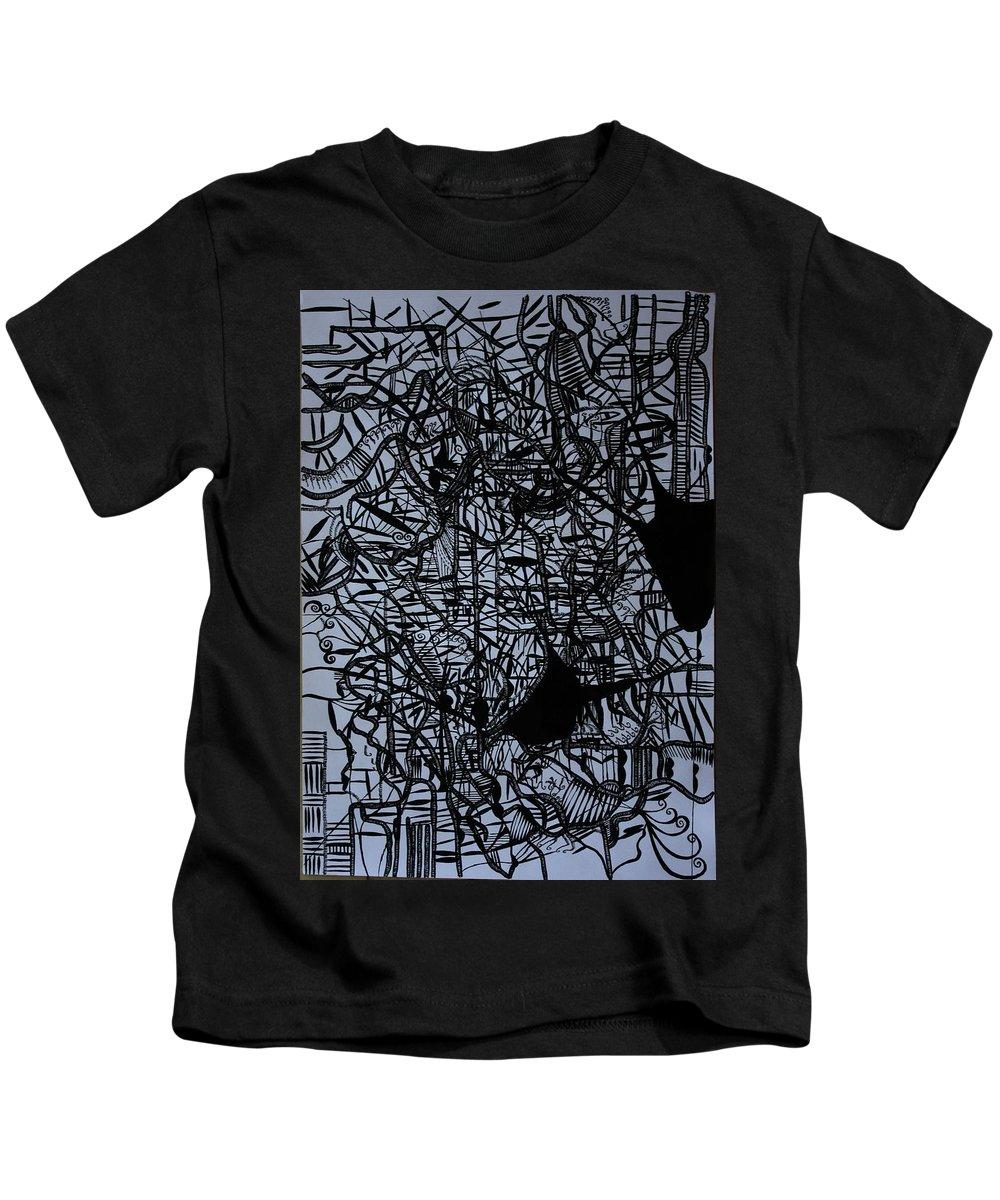 Jesus Kids T-Shirt featuring the drawing Kintu And Nambi by Gloria Ssali