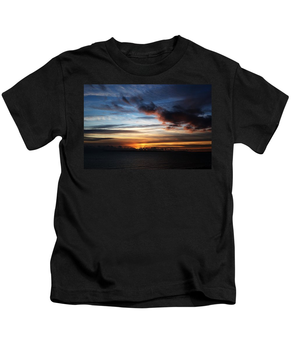 Sunset Kids T-Shirt featuring the photograph Sunset Over Poole Bay by Chris Day