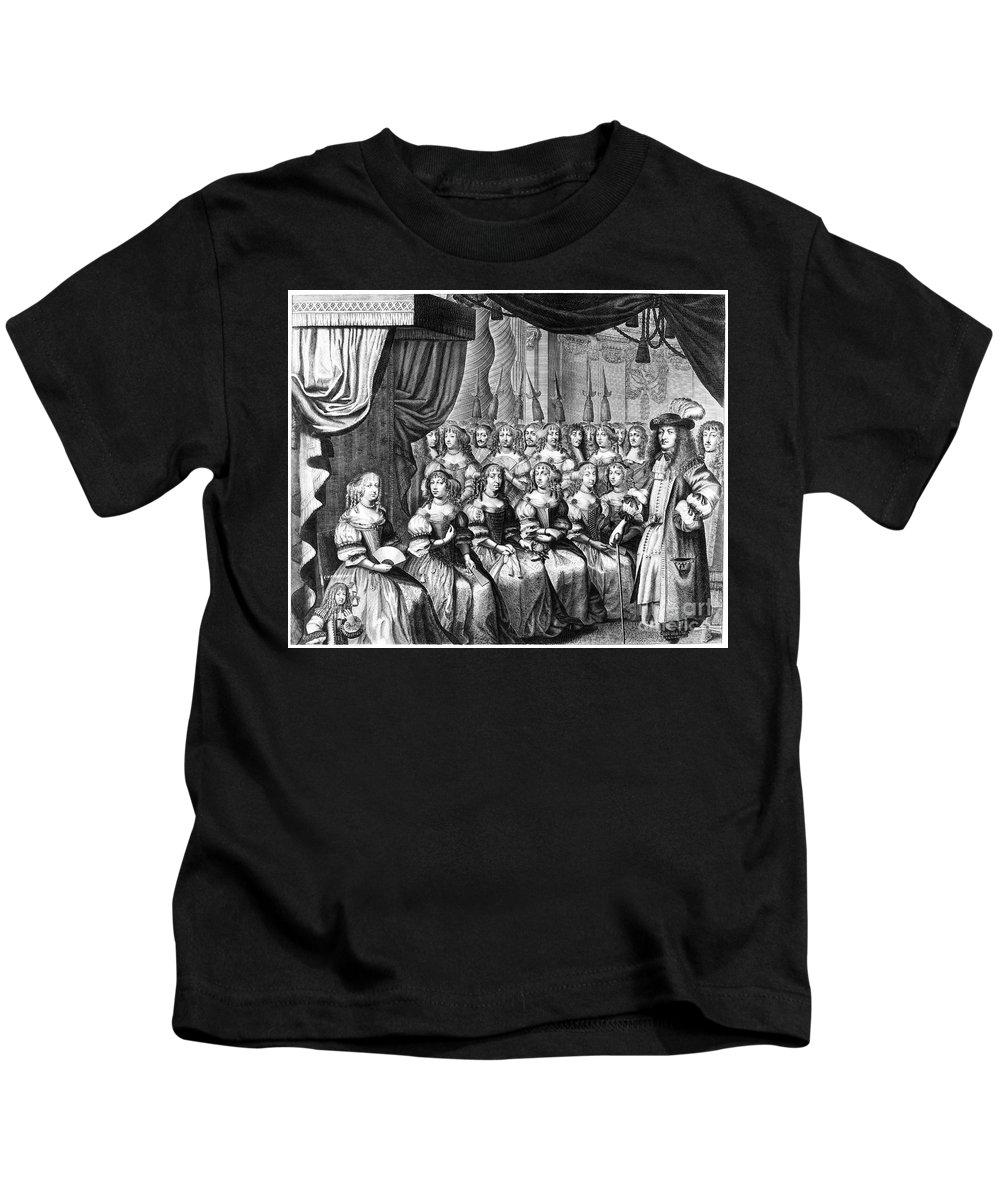 1665 Kids T-Shirt featuring the photograph Louis Xiv (1638-1715) by Granger