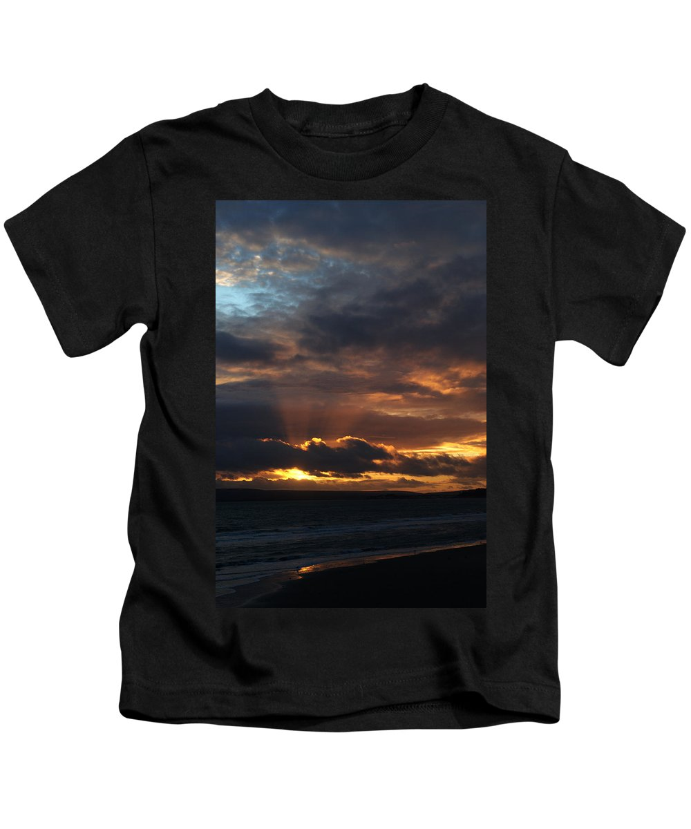 Sunset Kids T-Shirt featuring the photograph Bournemouth Sunset by Chris Day