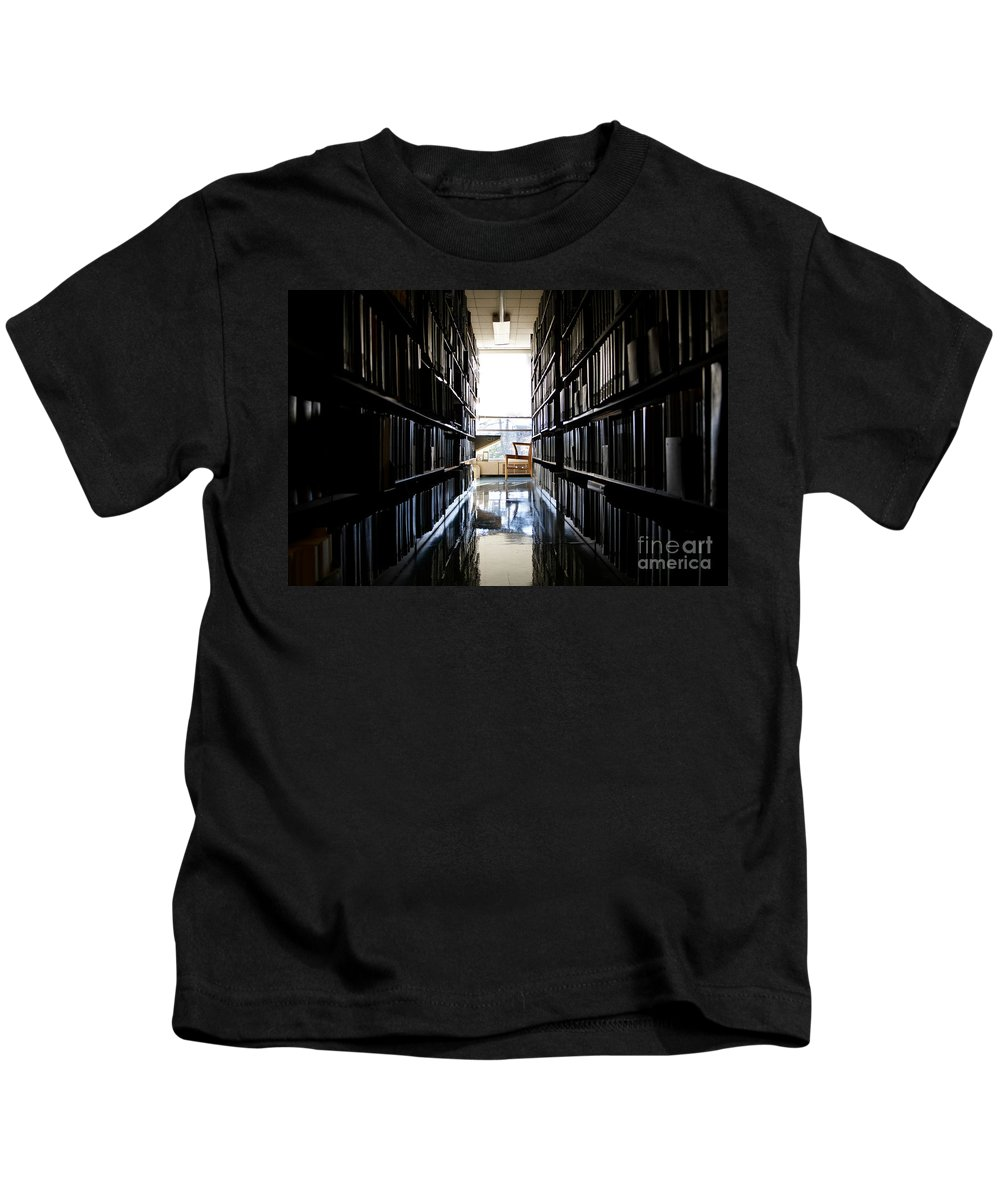 Bloom Kids T-Shirt featuring the photograph A Quiet Place To Work by Jannis Werner