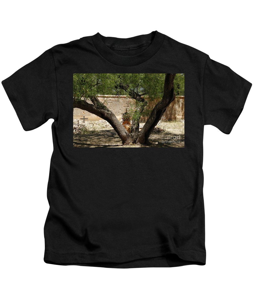 Arizona Kids T-Shirt featuring the photograph A Shady Rest by Kathy McClure