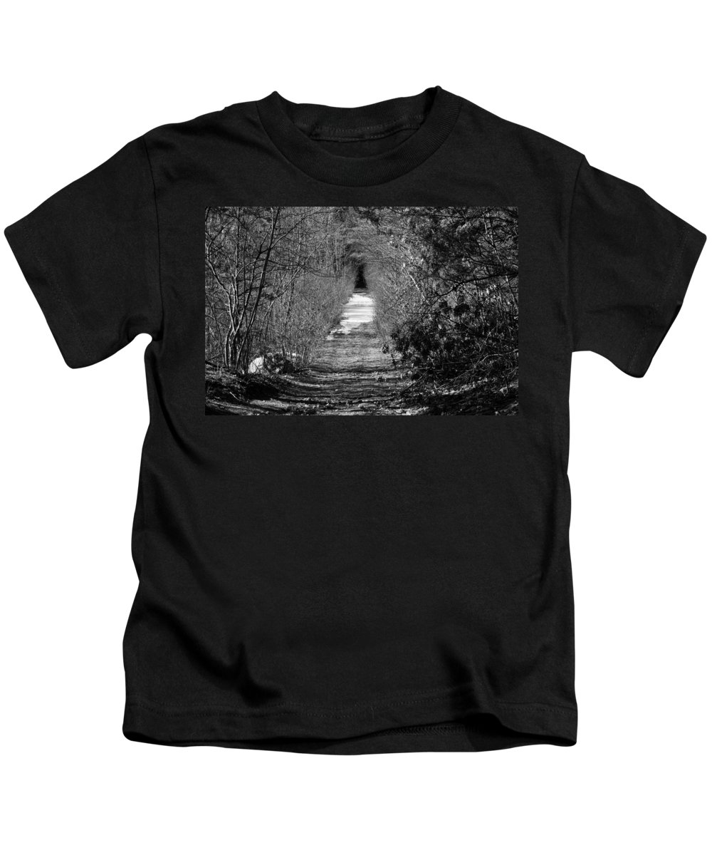 Kids T-Shirt featuring the photograph A Walk In Winter by Barbara S Nickerson