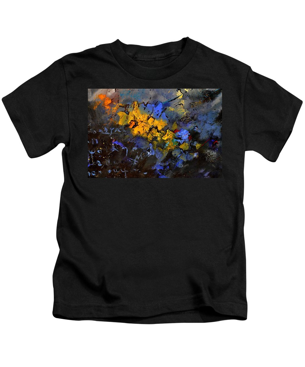 Abstract Kids T-Shirt featuring the painting Abstract 795624 by Pol Ledent