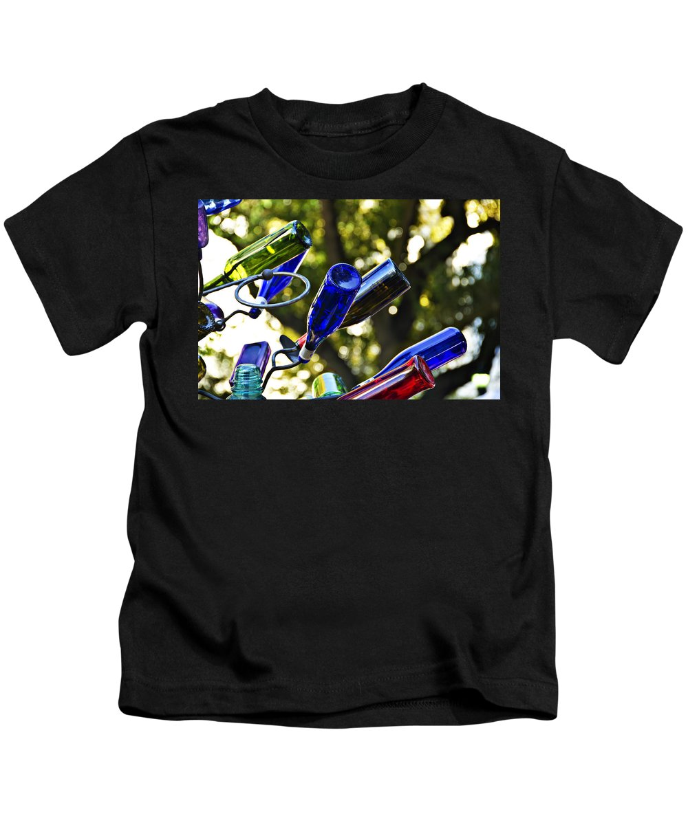 Abstract Kids T-Shirt featuring the photograph Abstract Bottle Structure by Ray Laskowitz