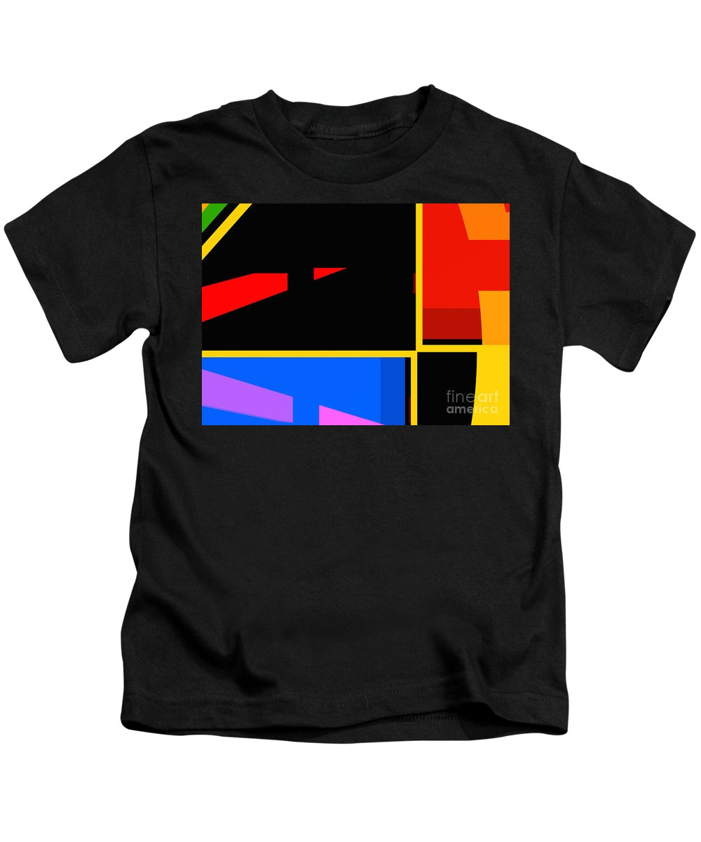 Abstract Kids T-Shirt featuring the digital art Abstract-pm-1 by Russell Kightley