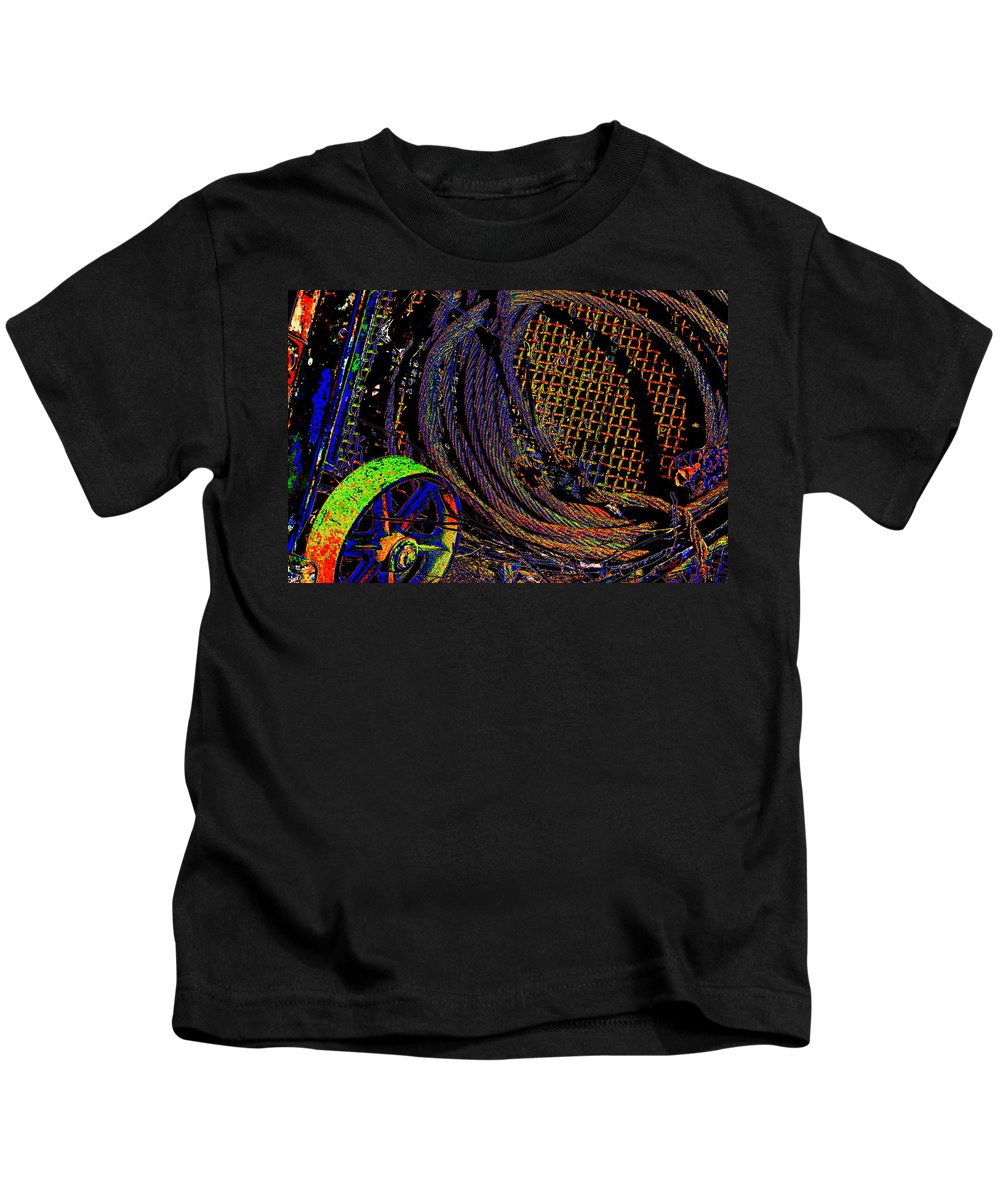 Wheel Kids T-Shirt featuring the photograph Abstract Textures by Phyllis Denton