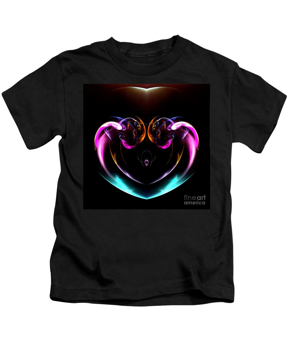 Fractal Digital Art Kids T-Shirt featuring the photograph Absttract Seventy-seven by Mike Nellums