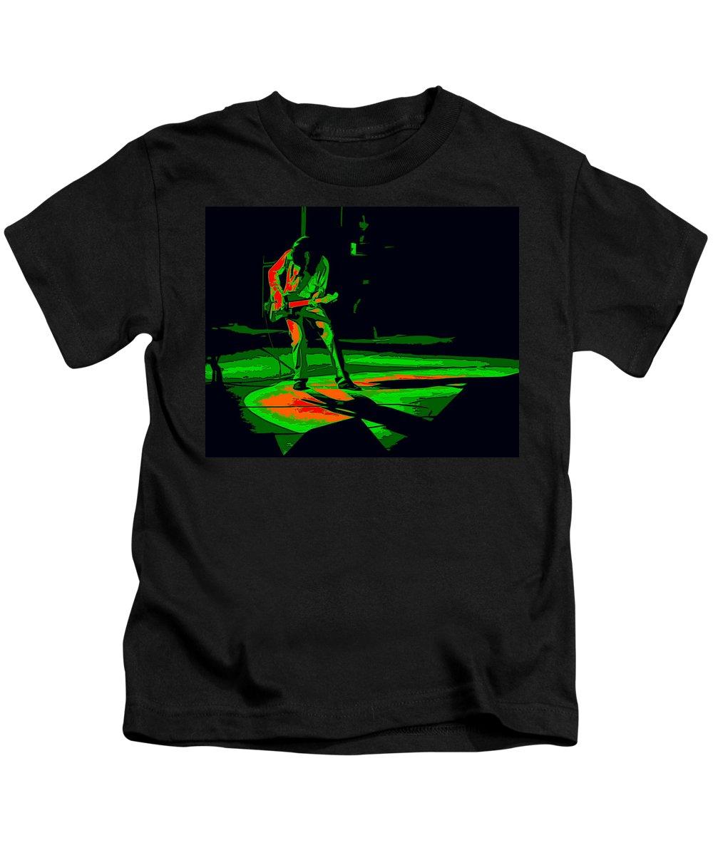 Aerosmith Kids T-Shirt featuring the photograph Aerosmith In Spokane 33d by Ben Upham