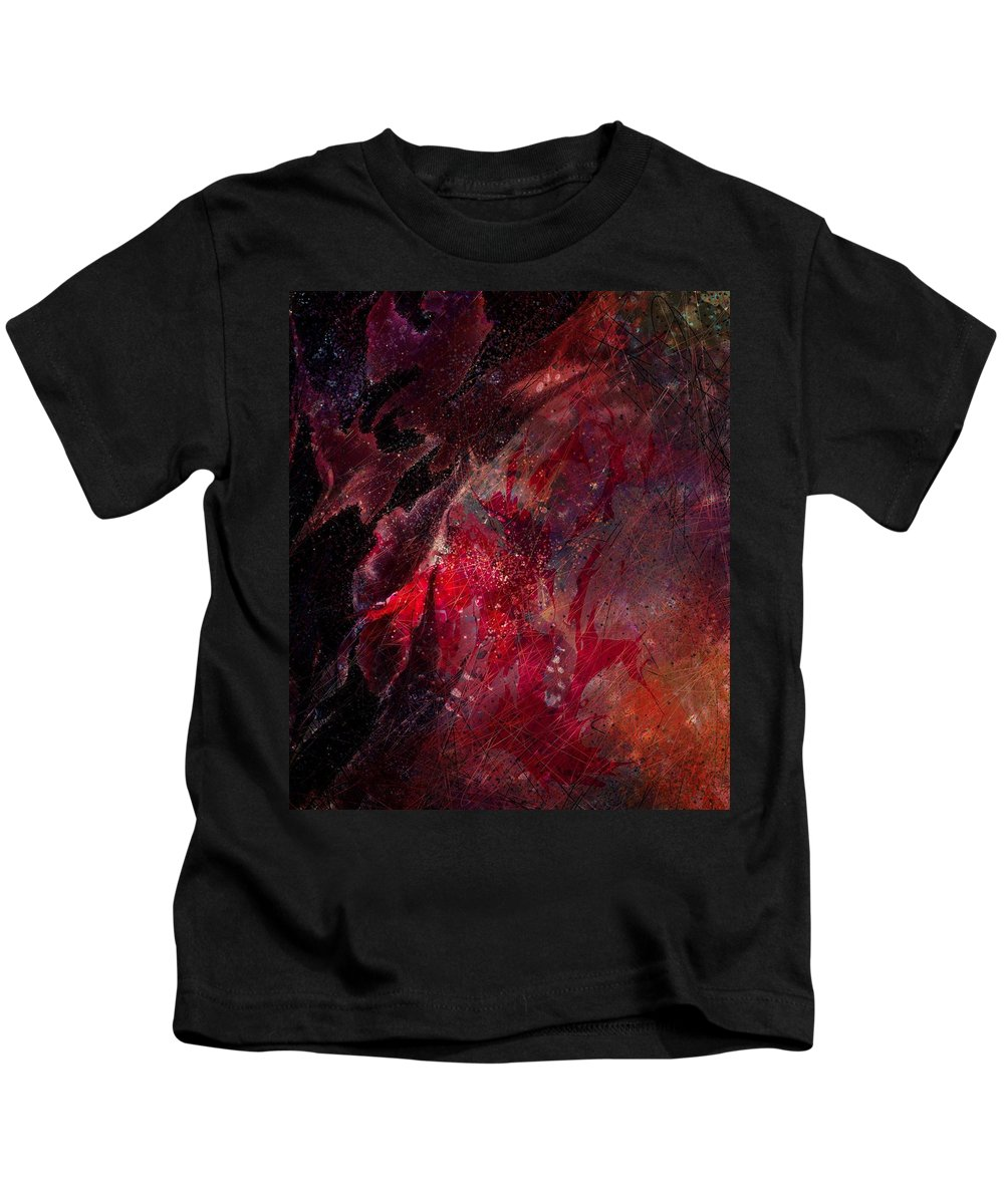 Abstract Kids T-Shirt featuring the digital art Against A Wire by Rachel Christine Nowicki