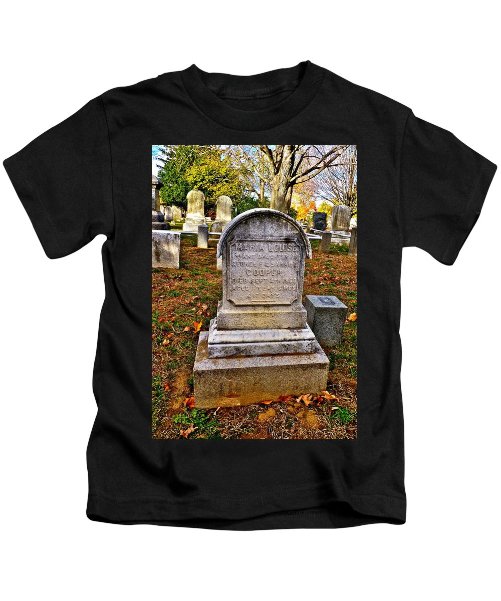 Cemetery Kids T-Shirt featuring the photograph All Alone by Catherine Conroy