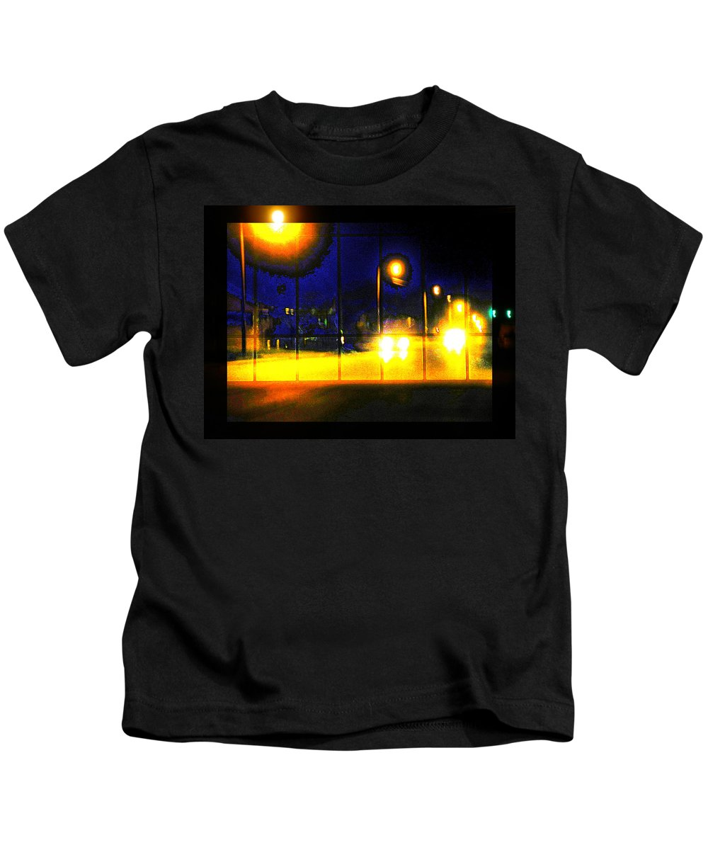 Abstract Kids T-Shirt featuring the photograph All I Need To Know Of Midnight by Lenore Senior