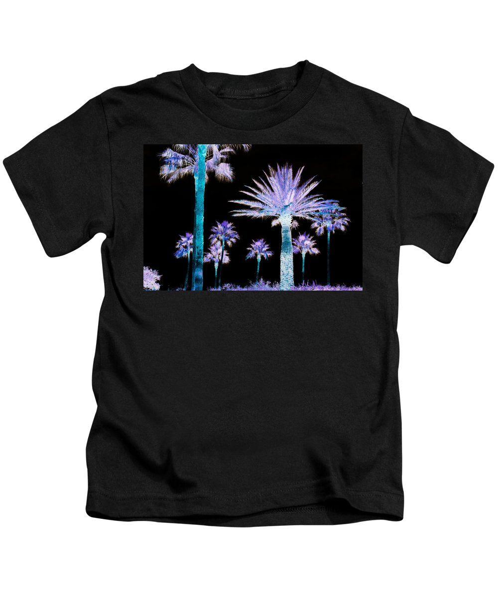 Palm Trees Kids T-Shirt featuring the photograph All The Palms by Trish Tritz
