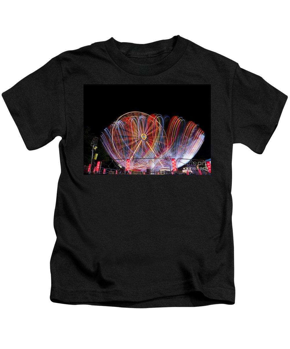 Amusement Park Kids T-Shirt featuring the photograph Amusement Park by Mats Silvan