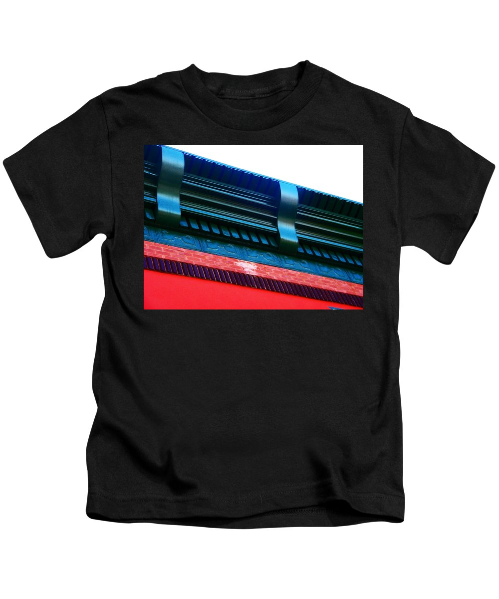 Abstract Kids T-Shirt featuring the photograph Andersons Carpeting by Lenore Senior