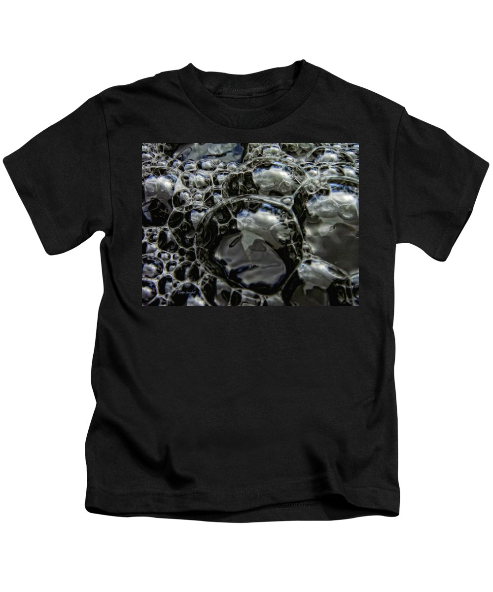 Bubble Kids T-Shirt featuring the photograph Angry Bubble Mob by Donna Blackhall