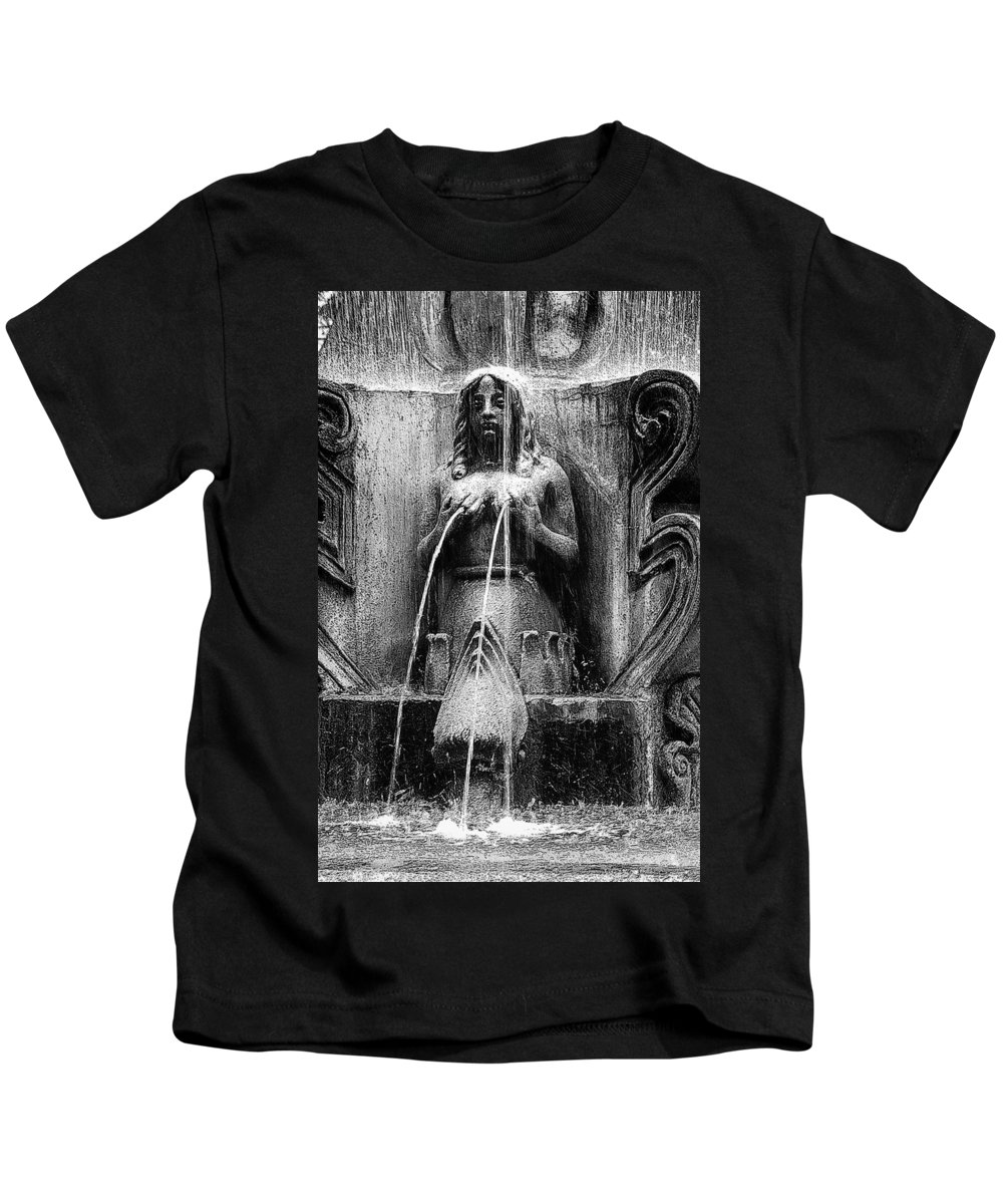 Mermaid Kids T-Shirt featuring the photograph Antigua Mermaid by Tom Bell