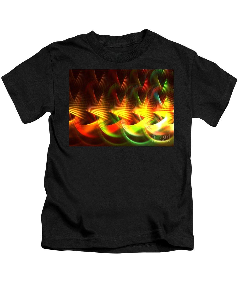Apophysis Kids T-Shirt featuring the digital art Apex by Kim Sy Ok