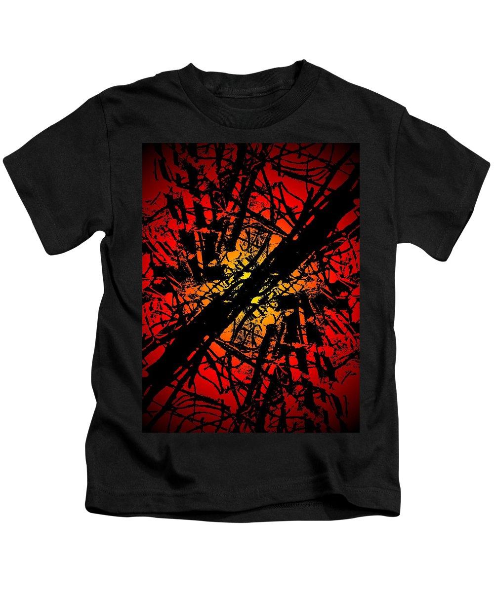 Abstract Kids T-Shirt featuring the digital art Arbor Sun by Tim Allen