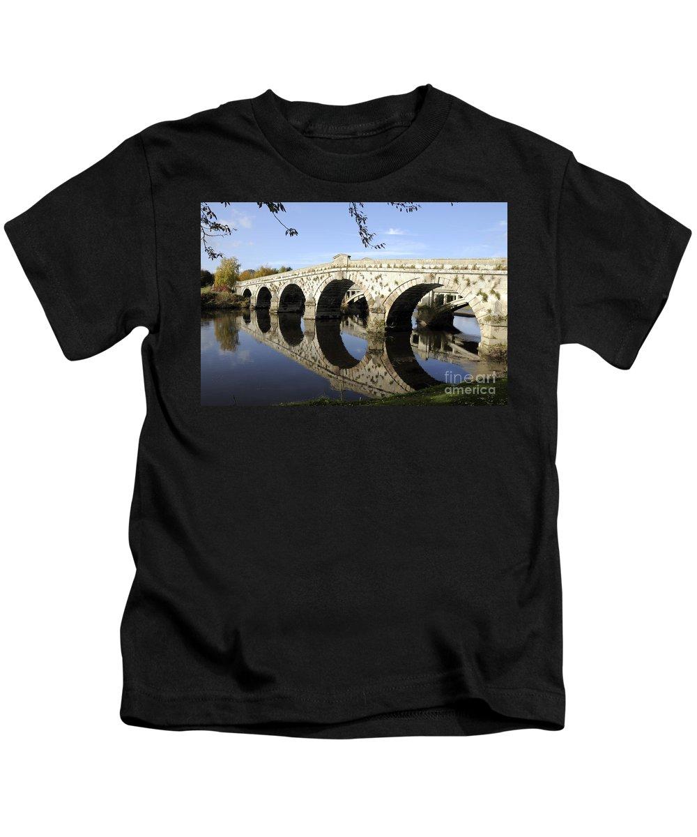 Atcham Kids T-Shirt featuring the photograph Atcham Bridge by Sheila Laurens