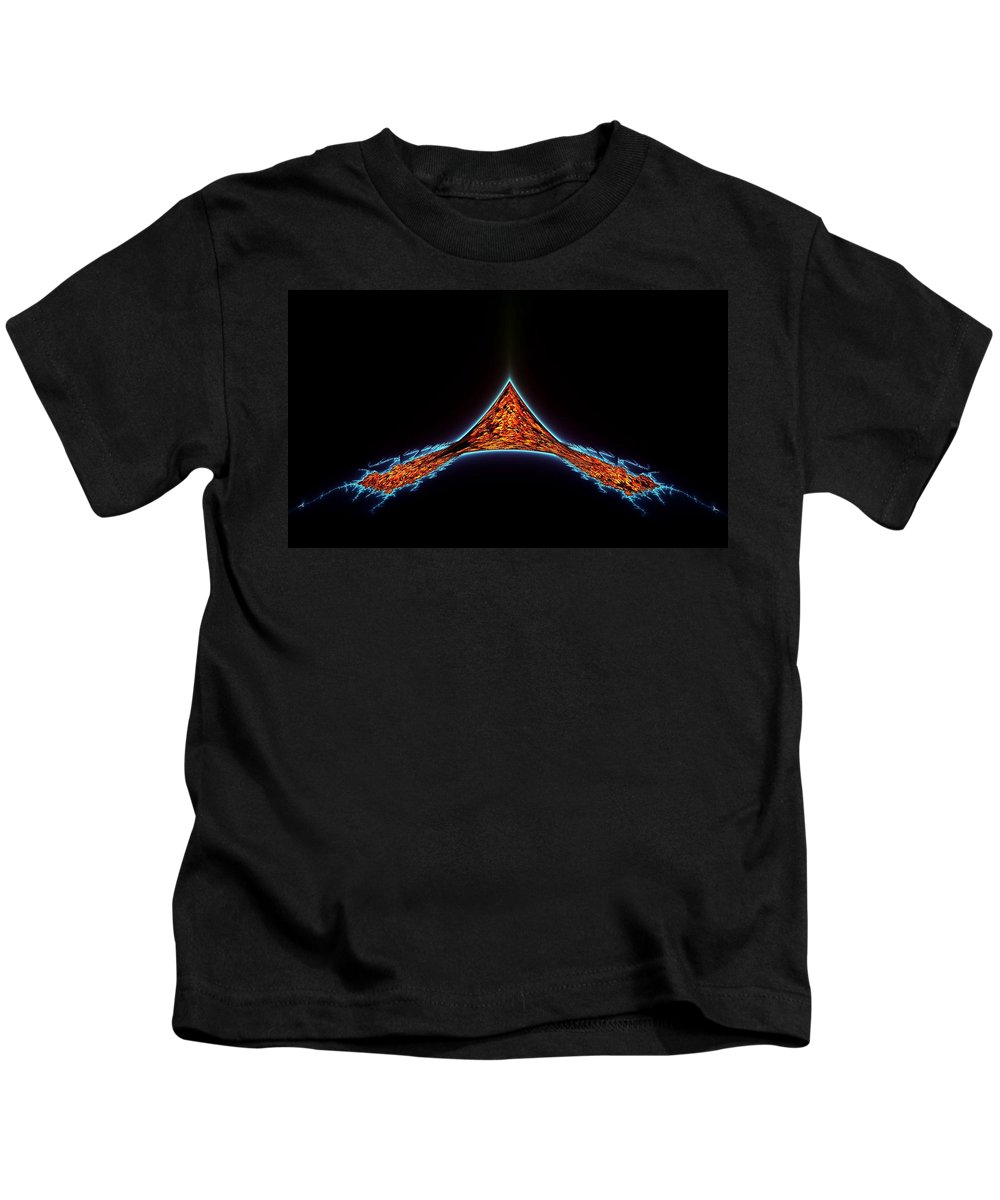 Fractal Kids T-Shirt featuring the photograph Atlantis Rising by Ellen Heaverlo