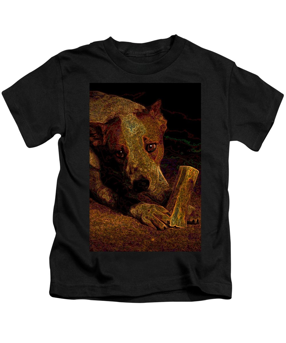 Austalian Cattle Dog Kids T-Shirt featuring the photograph Australian Cattle Dog by One Rude Dawg Orcutt
