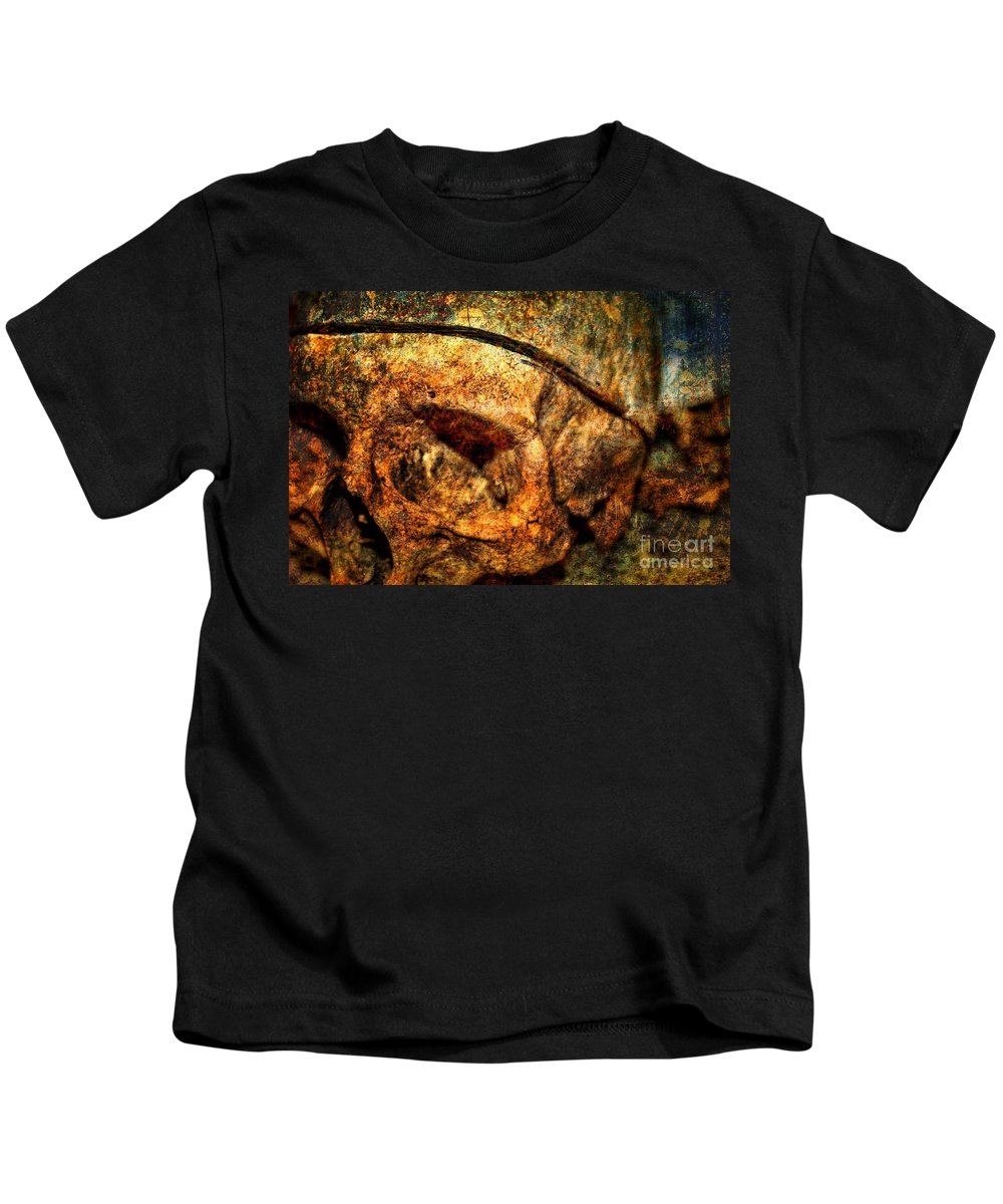Autopsy Kids T-Shirt featuring the photograph Autopsy by Heather Applegate