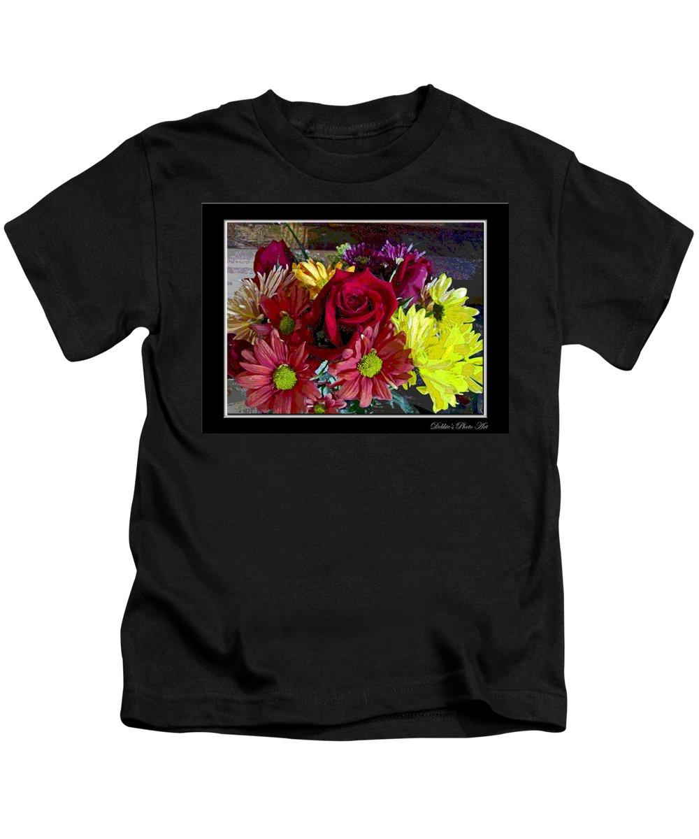 Kids T-Shirt featuring the digital art Autumn Boquet by Debbie Portwood