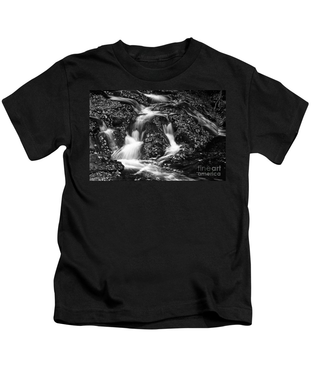 Falls Kids T-Shirt featuring the photograph Autumn Cascade by Paul W Faust - Impressions of Light