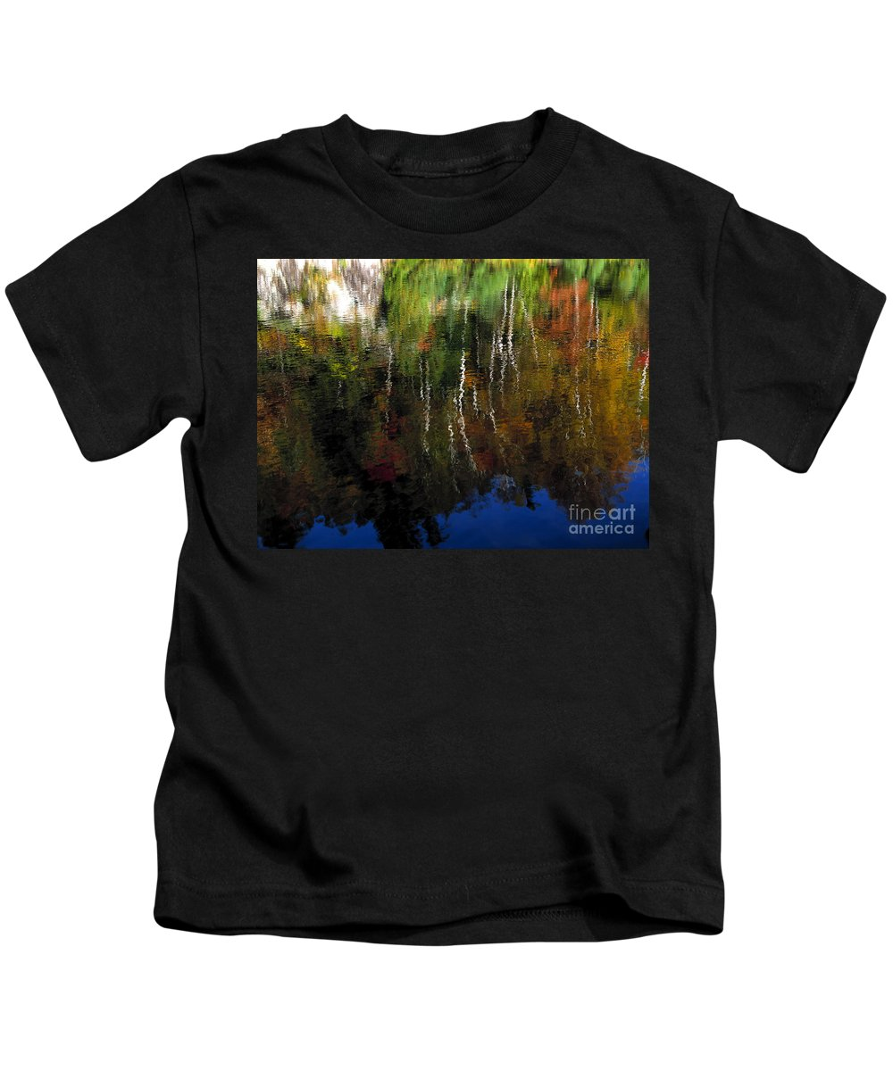 Autumn Kids T-Shirt featuring the photograph Autumn Reflections by Mike Nellums