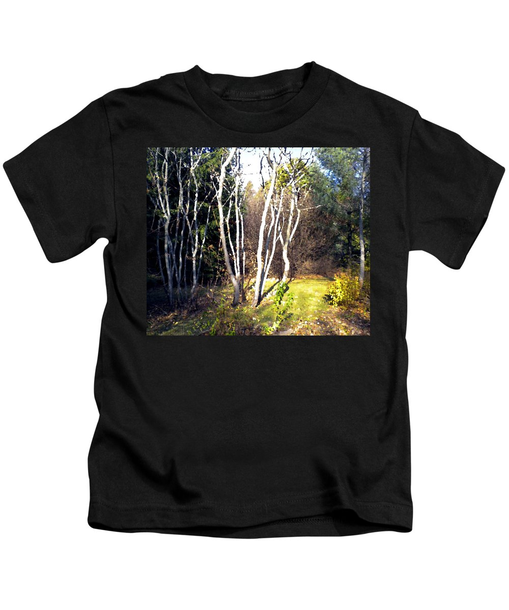 Trees Kids T-Shirt featuring the painting Autumn Sumacs by Renate Nadi Wesley