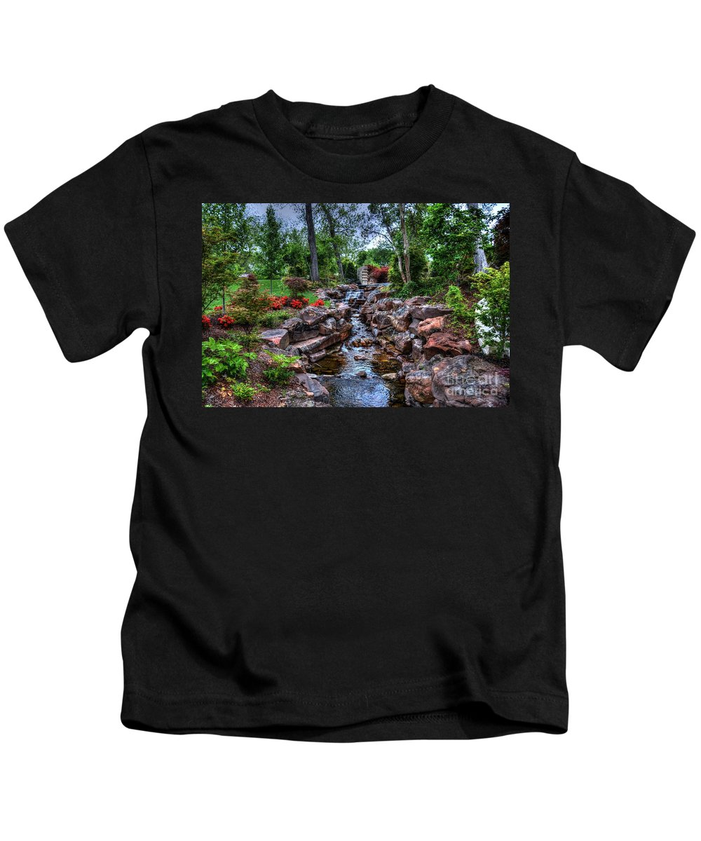 Water Kids T-Shirt featuring the photograph Babbling Brook by Debbi Granruth
