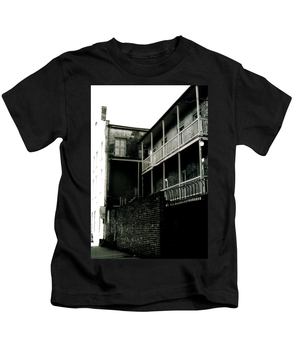 Louisiana Kids T-Shirt featuring the photograph Balcony- French Quarter- New Orleans by Doug Duffey