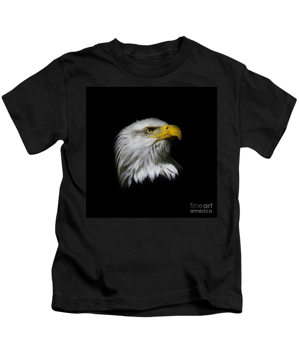 Bald Eagle Kids T-Shirt featuring the photograph Bald Eagle by Steve McKinzie