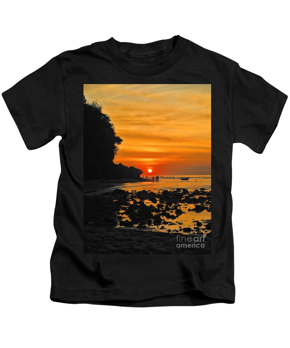 Indonesian Kids T-Shirt featuring the photograph Bali Indonesian Sunset by RJ Aguilar