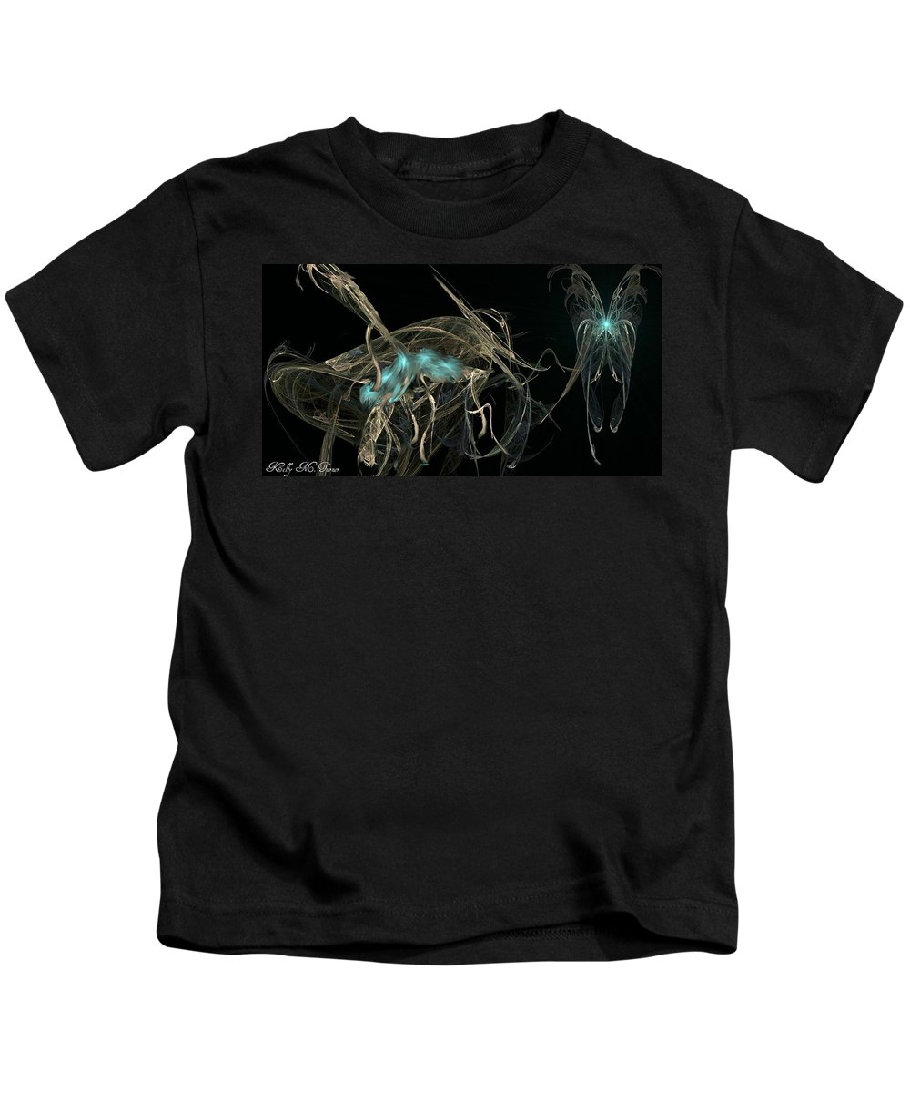 Ballerina Kids T-Shirt featuring the digital art Ballerina Butterfly by Kelly Turner
