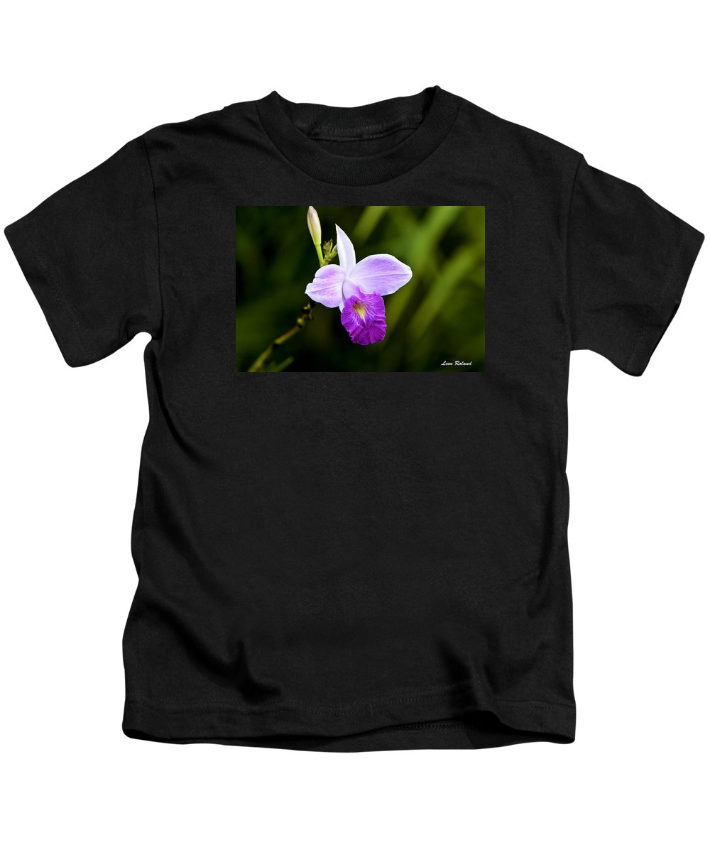 Costa Rica Kids T-Shirt featuring the photograph Bamboo Orchid by Leon Roland