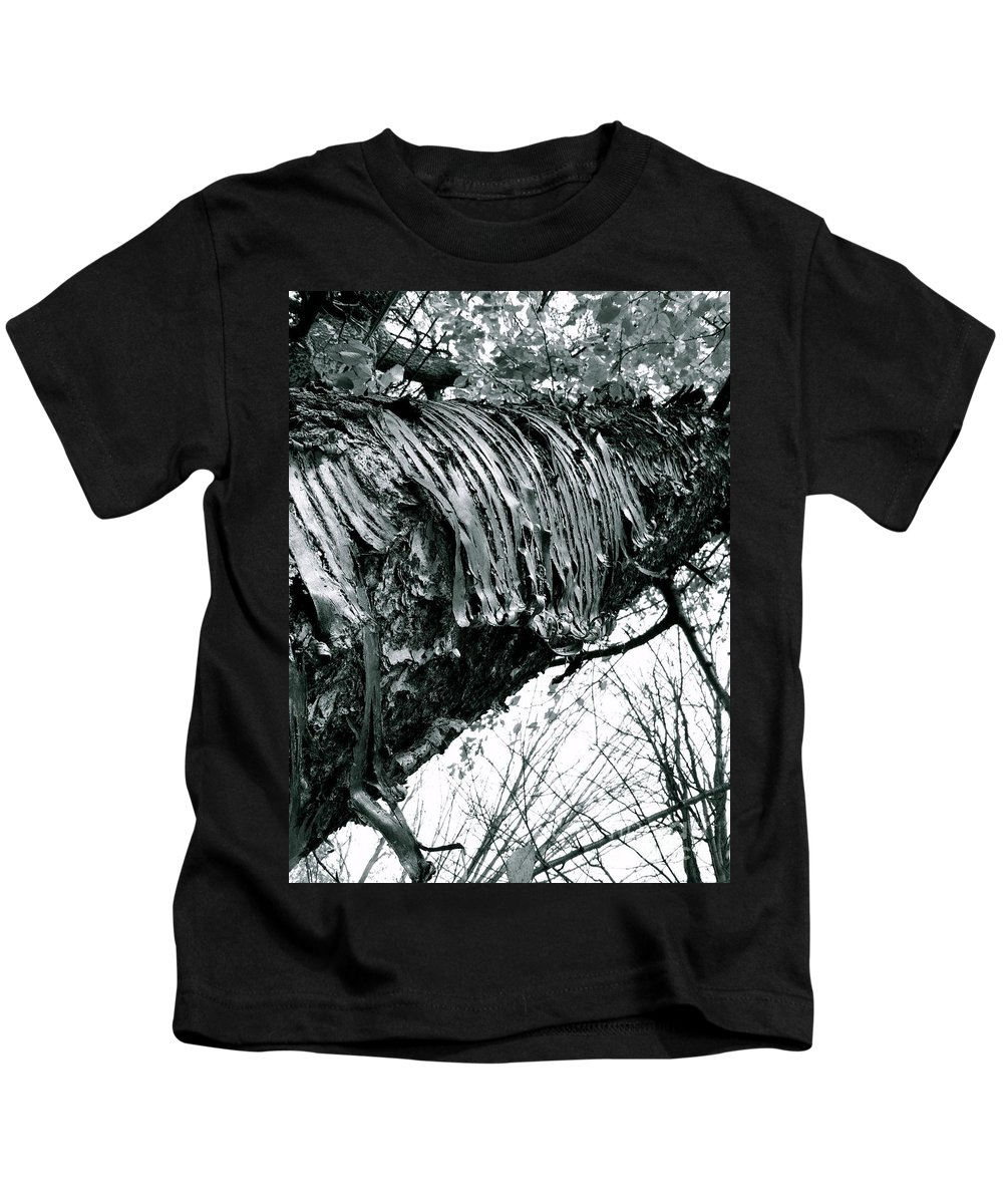 Kids T-Shirt featuring the photograph Barking Up At The Sky by Trish Hale