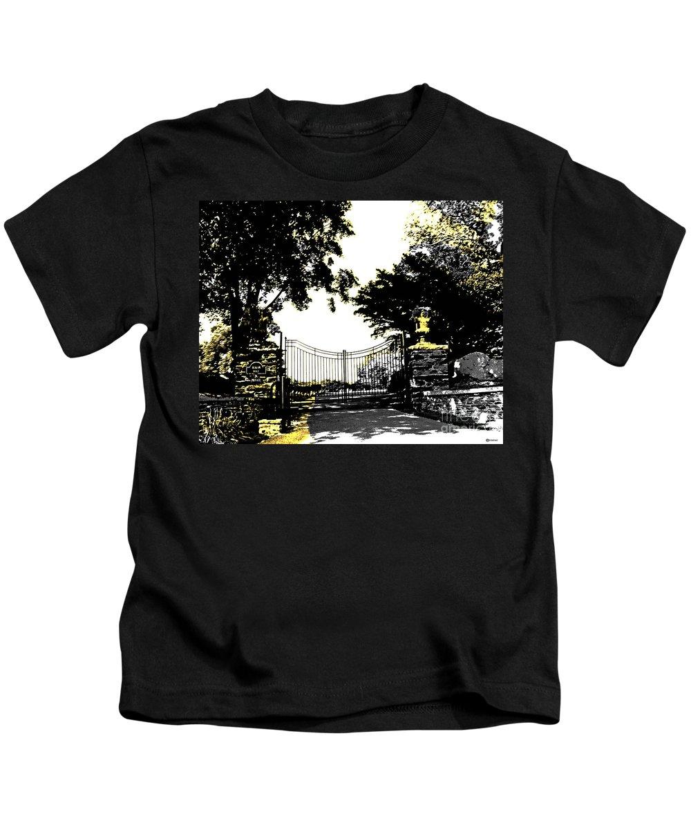 Gate Kids T-Shirt featuring the digital art Beacon Rock Gate Newport Ri by Lizi Beard-Ward