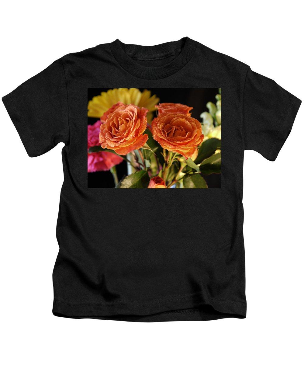 Rose Kids T-Shirt featuring the photograph Beautiful Love by Nancie DeMellia