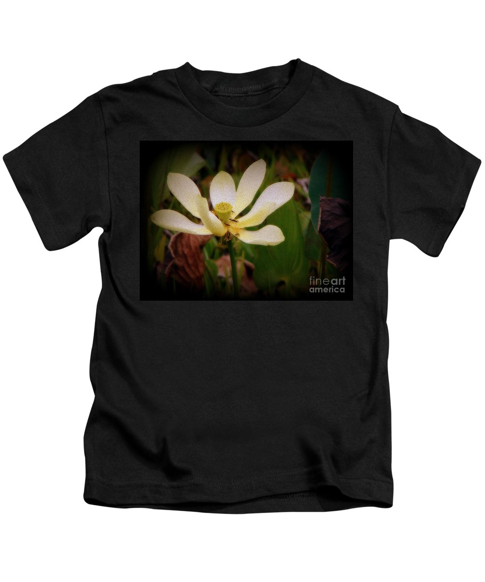 Lotus Kids T-Shirt featuring the photograph Begin by Priscilla Richardson