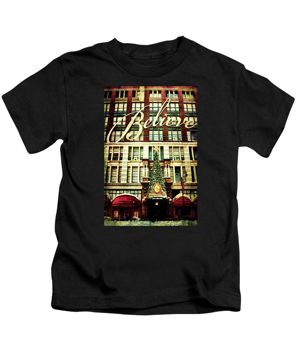 Gotham Kids T-Shirt featuring the photograph Believe by Chris Lord
