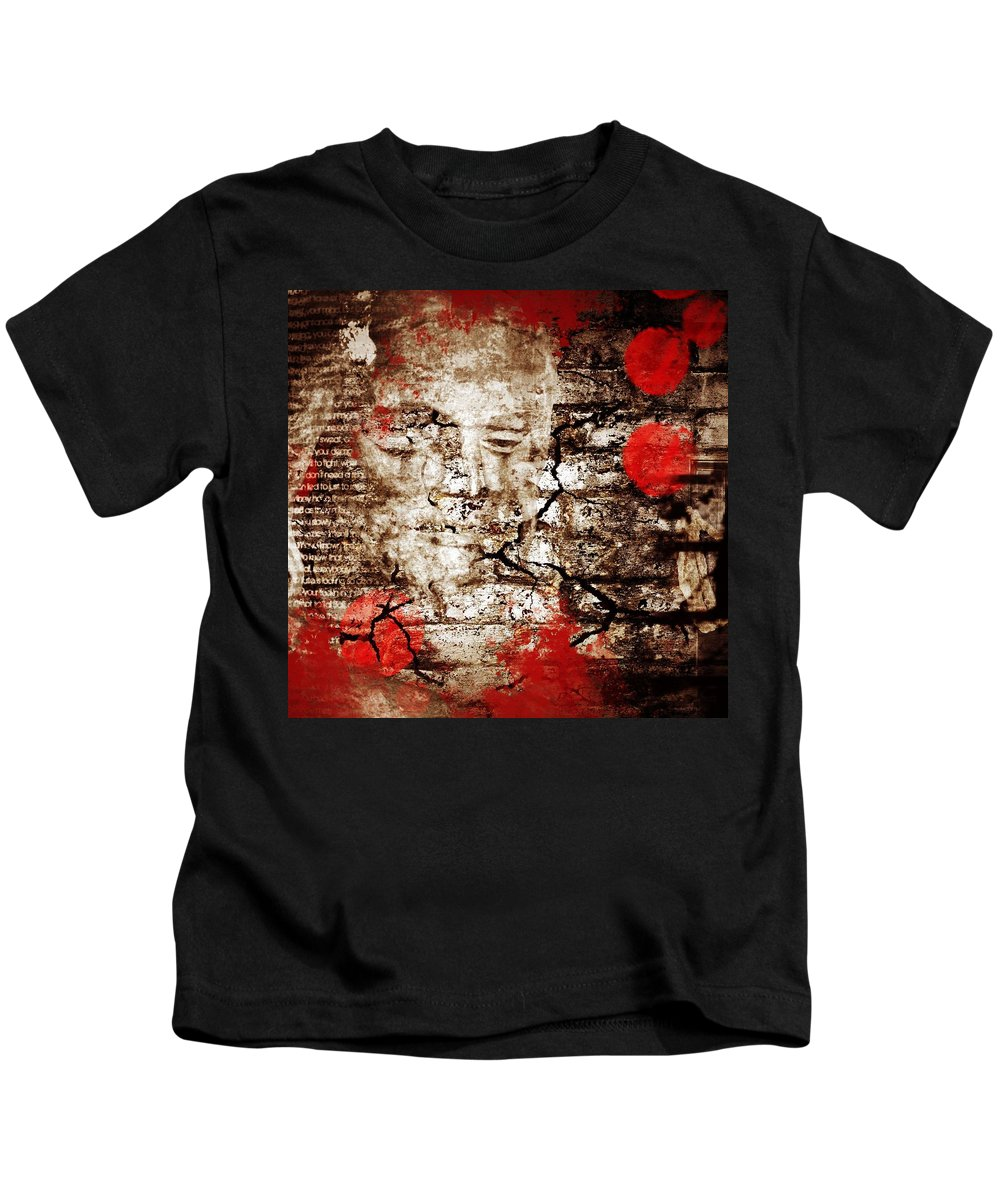 Paint Kids T-Shirt featuring the photograph Beneath Faiths Wall by The Artist Project